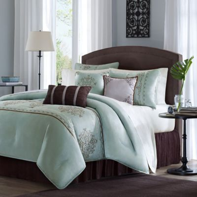 Blue And Brown Bedroom Set buy brown blue comforter sets king from bed bath & beyond