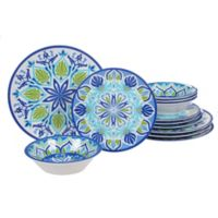 Certified International Morocco 12-Piece Dinnerware Set in Blue