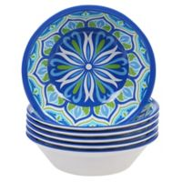 Certified International Morocco All-Purpose Bowls in Blue (Set of 6)