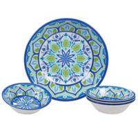 Certified International Morocco 5-Piece Salad/Serving Set in Blue