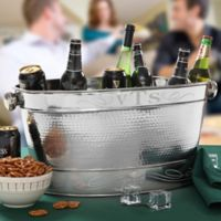 Monogrammed Stainless Steel Party Tub
