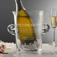 Retirement Engraved Crystal Chiller and Ice Bucket