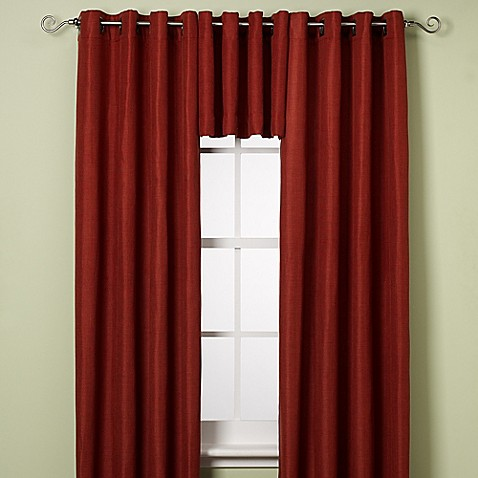 reina grommet window curtain panel and valance bed bath 85724