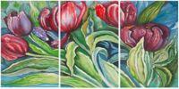 Safavieh Nouveau Tulips 20-Inch x 30-Inch Acrylic Wall Art (Set of 3)