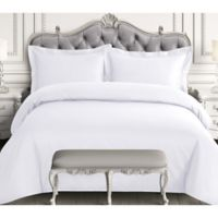 Tribeca Living 600-Thread-Count Queen Duvet Cover Set in White