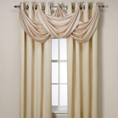 Insola Odyssey Insulating Waterfall Window Valance In Beige