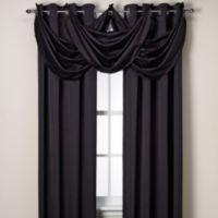 Insola® Odyssey Insulating Waterfall Window Valance in Black