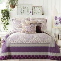 Jessica Simpson Jacky Reversible Full/Queen Comforter Set in Purple