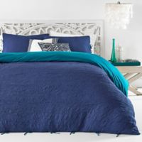 Azalea Skye Amara Reversible Twin Comforter Set in Navy