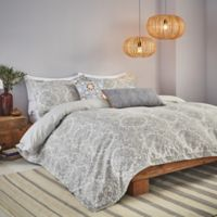 Bedeck Minoa King Duvet Cover Set in Grey