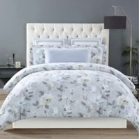 Christian Siriano Soft Floral Full/Queen Comforter Set in Grey