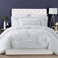 Christian Siriano Stem Floral Full/Queen Duvet Cover Set in Grey