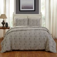 Amity Home Sabrina King Duvet Cover in Grey
