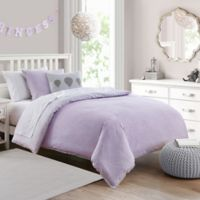 Deanna Comforter Set 2-Piece Twin Comforter Set in Purple