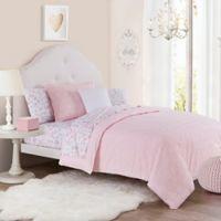 Chloe Full/Queen Duvet Cover Set in Pink