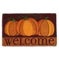 Welcome Pumpkins Door Mat