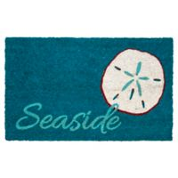 "Entryways Seaside 17"" x 28"" Coir Door Mat in Blue"