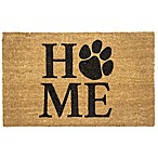 "Entryways Pet Home 17"" x 28"" Coir Door Mat in Black<br />"