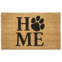 "Entryways Pet Home 17"" x 28"" Coir Door Mat in Black"