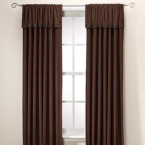 J. Queen New York™ Dillon Foldover 108-Inch Window Curtain Panel in Chocolate