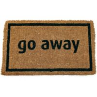 "Entryways Go Away 17"" x 28"" Coir Door Mat in Black"