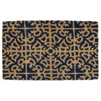 "Entryways Parterre 22"" x 35"" Coir Door Mat in Blue"