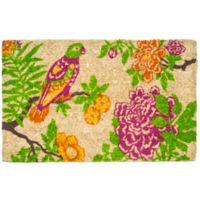 "Entryways Summer Peony 22"" x 35"" Coir Multicolor Door Mat"