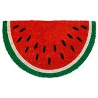 """Entryways Watermelon 17"""" x 28"""" Multicolor Coir Door Mat"""