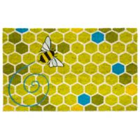 "Entryways Honeycomb 17"" x 28"" Coir Multicolor Door Mat"