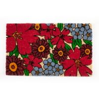 "Entryways Forget-Me-Nots 17"" x 28"" Coir Multicolor Door Mat"