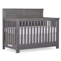 evolur™ Belmar Flat Top 5-in-1 Convertible Crib in Rustic Grey