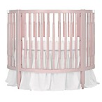 Dream On Me Sophia Posh Circular Crib in Blush Pink