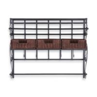 Southern Enterprises Wall Mount Craft Storage Rack with Baskets