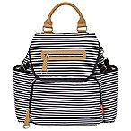 SKIP*HOP® Grand Central Take it All Backpack Diaper Bag in Black Stripe