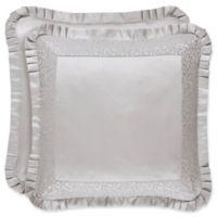 J. Queen New York™ La Scala European Pillow Sham in Silver