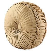 J. Queen New York™ Concord Tufted Round Throw Pillow in Gold