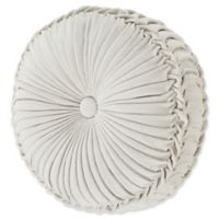 J. Queen New York™ Giovani Tufted Round Throw Pillow in White