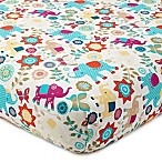 Levtex Baby Zahara Elephant Print Fitted Crib Sheet