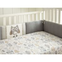 Levtex Baby® Night Owl 4-Piece Crib Bumper Set in Grey/Taupe