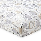Levtex Baby Night Owl Fitted Crib Sheet in Grey/Taupe