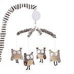 Levtex Baby Night Owl Musical Mobile in Grey
