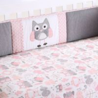 Levtex Baby® Night Owl 4-Piece Crib Bumper Set in Pink/Grey