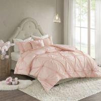 Madison Park Leila Full/Queen Comforter Set in Blush