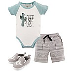 Yoga Sprout Free Hugs 0-3M 3-Piece Bodysuit, Shorts and Shoes Set