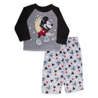 Disney® Size 4T 2-Piece Mickey Mouse Pajama Set in Black
