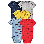 carter's® Transportation Size 6M 5-Pack Short Sleeve Bodysuits