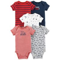 carter's® Mom's MVP Newborn 5-Pack Short Sleeve Bodysuits