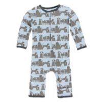 KicKee Pants® Newborn Dogs Layette Coverall in Blue