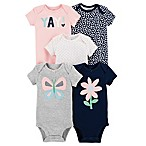 carter's® Size 6M 5-Pack Butterfly Short-Sleeve Bodysuits
