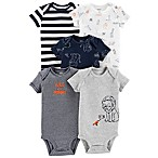 carter's® Animal Size 9M 5-Pack Short Sleeve Bodysuits